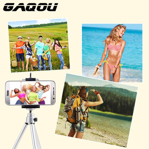Image 4 - GAQOU Portable Mini Tripod For iPhone With Mobile Phone Holder Stand Flexible Tripods For Gopro Action Camera Bracket
