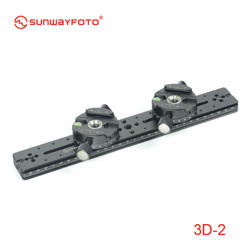 SUNWAYFOTO 3D 2 font b Tripod b font Head 3D Stereo Stereoscopic Dual font b Cameras