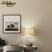 beibehang Modern simple pure color non woven wallpaper dining room living room sofa background bedroom full of wallpaper