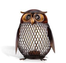 owl Piggy Bank Owl Shaped Figurine Piggy Bank Money Box Metal Coin Box Saving Box Home Decoration Crafts Gift For Kids top selling jeweled lacquer owl on branch trinket box owl jewelry box