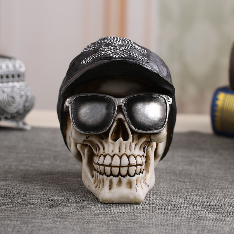 MRZOOT Resin Craft Home Decorations Skeleton Skull Model Punk Style Decoration Personalized Ornaments Fashion Decor