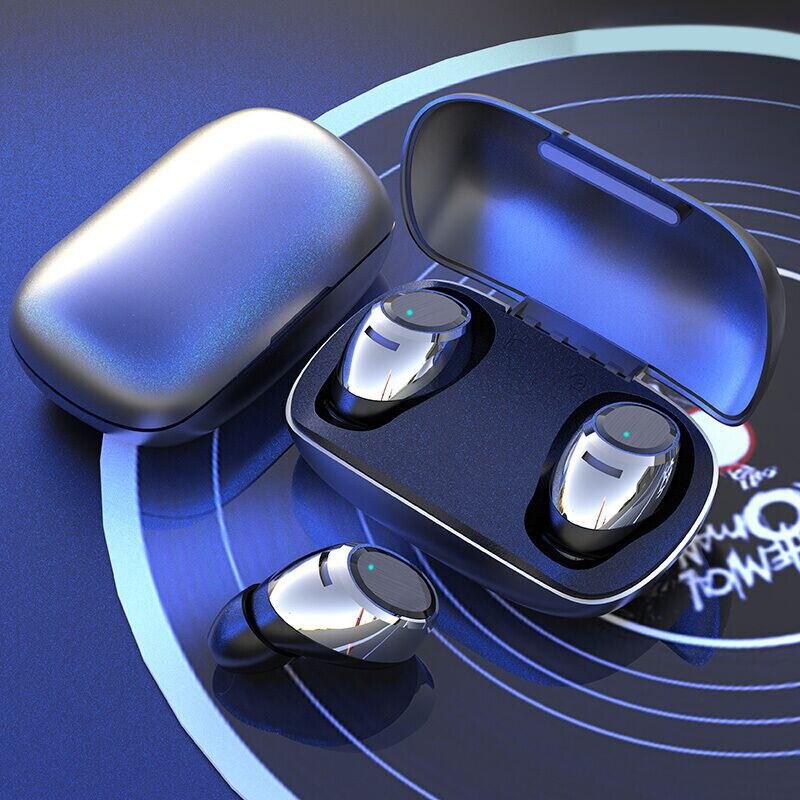 Sans fil 5.0 Bluetooth écouteur avec micro musique Sport mode toucher étanche casque mains libres dynamique + Balance Plus ou moins