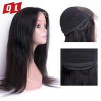 QLOVE HAIR Straight Hair Wigs Human Hair Lace Frontal Wigs Natural Color Non Remy Straight Wigs Free Shipping