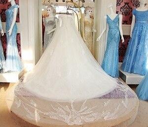Image 5 - 2019 luksusowy kryształ dubaj Kaftan suknie ślubne Sexy V neck szata de mariage arabski muzułmańskie suknie ślubne z długim rękawem