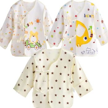 Good Quality STAR infant Baby tops baby tops infant underwear singleton coat pure cotton shirt 3PCS/LOT Baby Accessories