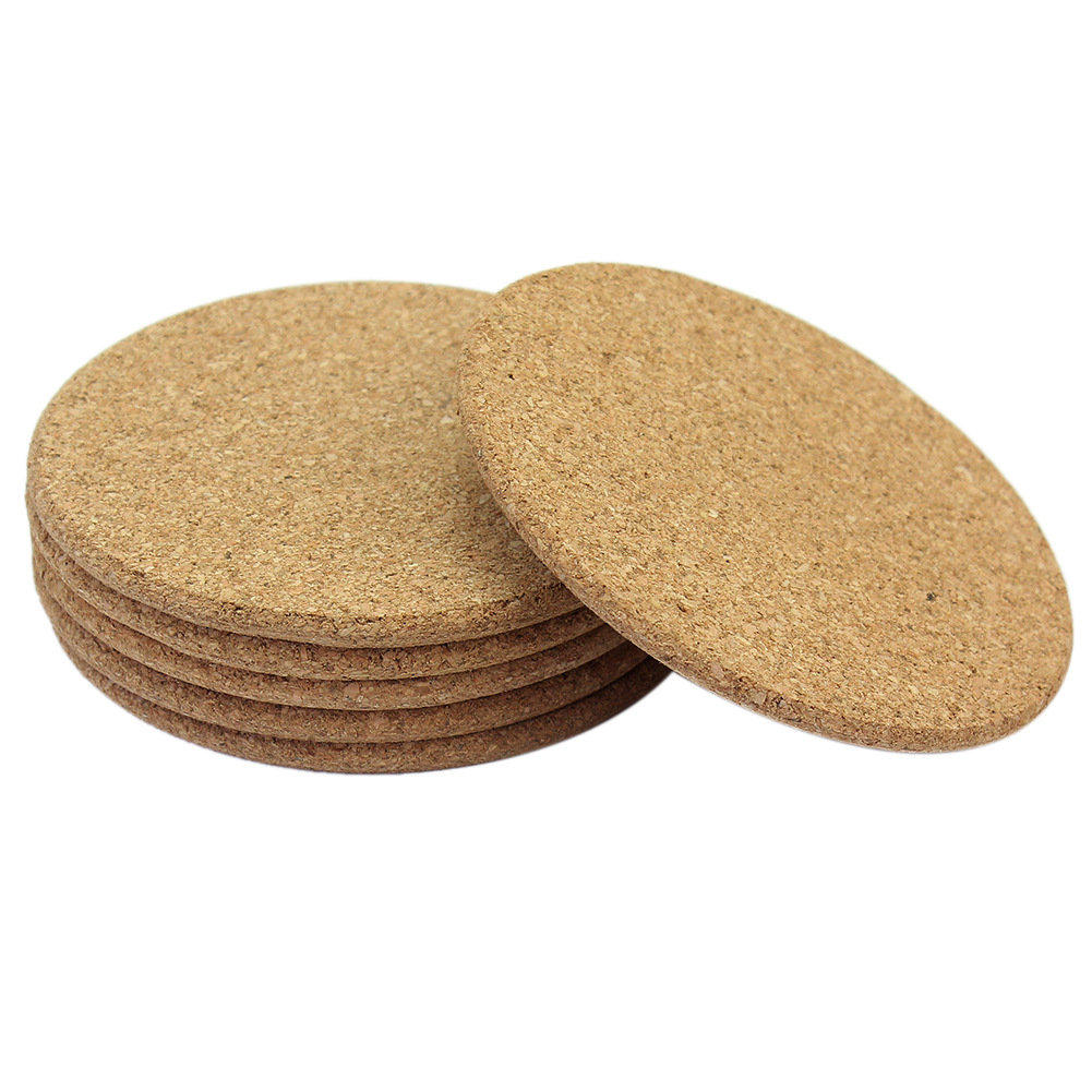 6pcs round plain cork coasters drink coffee tea cup mat pad home kitchen office table decor pad 2017 new in mats pads from home garden on aliexpresscom - Cork Cafe Decor