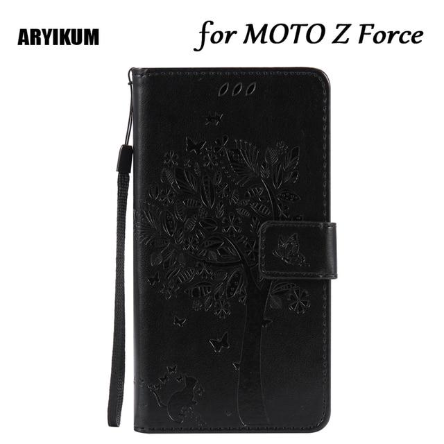 ARYIKUM Luxury Wallet Case For MOTO Z Force 3D Embossed Phone Bag ...
