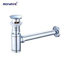 ROVATE escurridor de botellas, tipo desodorante, tubería de drenaje de agua para lavabo, tubo de fontanería