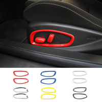 MOPAI Car Seat Adjustment Button Decoration Cover Stickers for Chevrolet Camaro 2017 Up Car Accessories Interior Styling