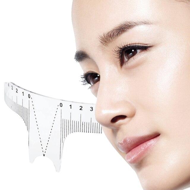 1PC Reusable Semi Permanent Eyebrow Ruler Eye Brow Measure Tool Eyebrow Guide Ruler Microblading Calliper Stencil Makeup 20cm 5