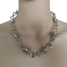 Handmade Men Women Unisex Chain Necklace Rock Band Heavy Choker Punk Metal Collar