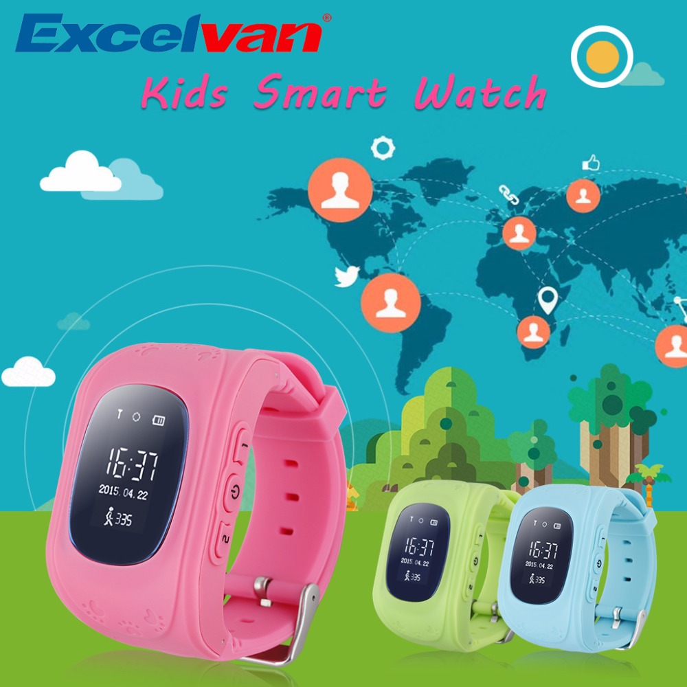Smart Phone Watch Children Kid Wristwatch G36 Q50 GSM GPRS GPS Locator Tracker Anti Lost Smartwatch