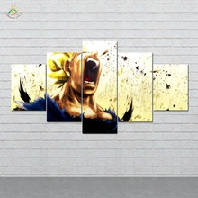 Anime Dragon Ball Fighting Angry Wall Art HD Prints Canvas Painting Modular Picture And Poster 5 Pieces