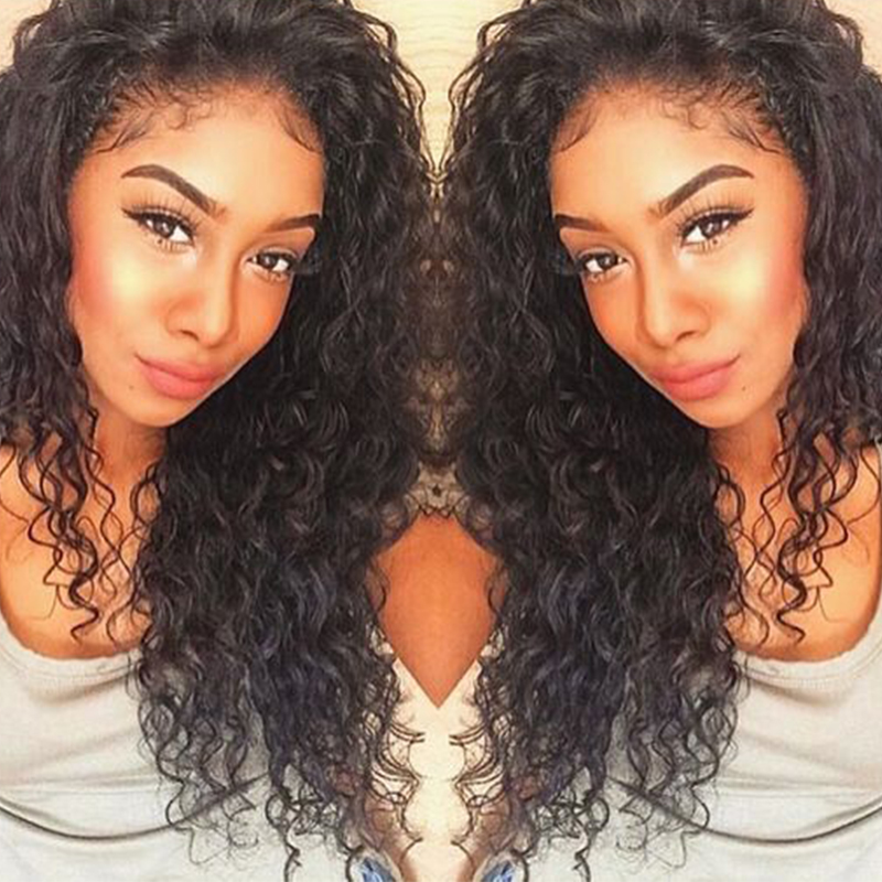 Deep Wave Wig Full Lace Wigs Human Hair With Baby Hair Peruvian Wigs For Women Natural Black Bleached Knot You May Remy Hair