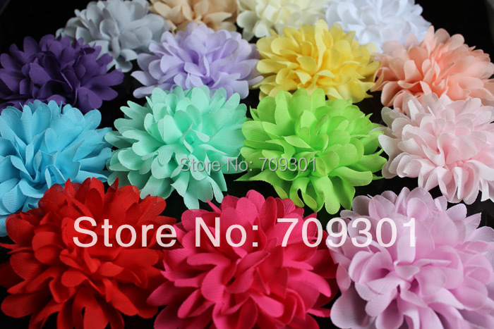 40/% SALE 4 SKY BLUE Audrey Chiffon Flowers Dainty Soft Chiffon Flowers W Pearls /& Rhinestones Mesh Layered Small Fabric Flowers Hair access