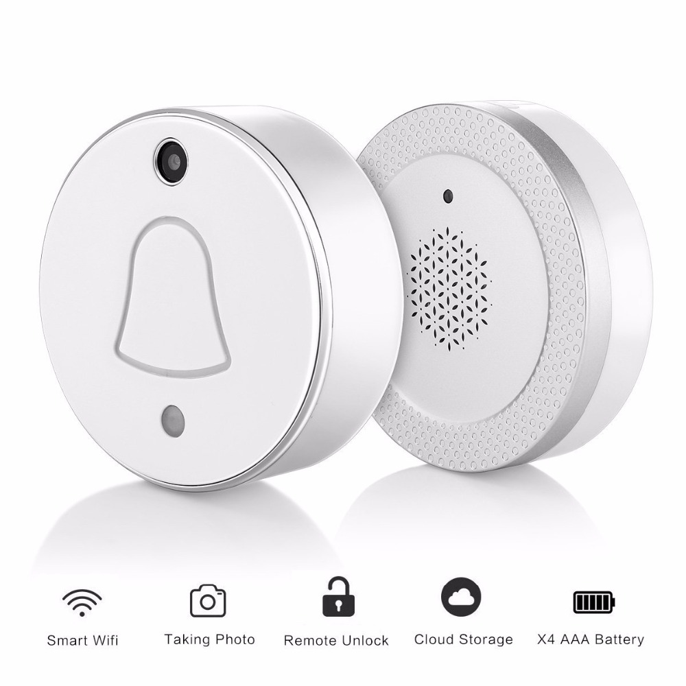 FGHGF Wireless Smart Doorbell , Auto Take Picture When Pressing, APP Push Notificationn with Visitor Snapshot for IOS Android auto paper auto take up reel system for all roland sj sc fj sp300 540 640 740 vj1000