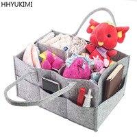 Hhyukimi赤ちゃんおむつキャディーオーガナイザー保育園収納袋用おむつワイプ&おもちゃポータブル車の収納バスケット赤ちゃんギフトバッグ