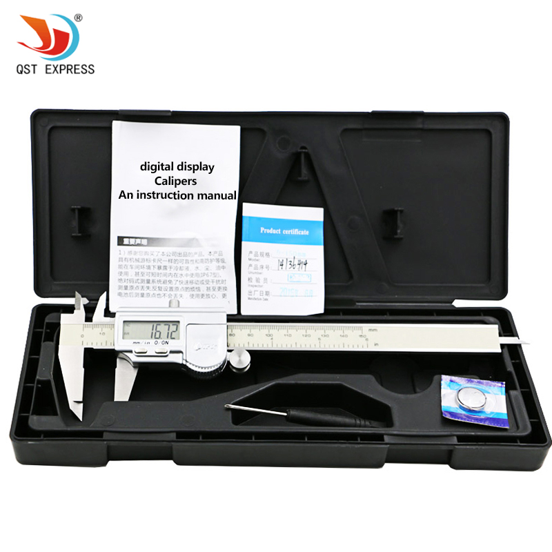 Industrial waterproof Digital Caliper 0-150mm / 0.01mm / 0.005 '' Stainless Steel Electronic Vernier Calipers Metric / Inch 0 150mm 6inch digital vernier caliper waterproof stainless steel lcd electronic caliper gauge tool metric imperial conversion