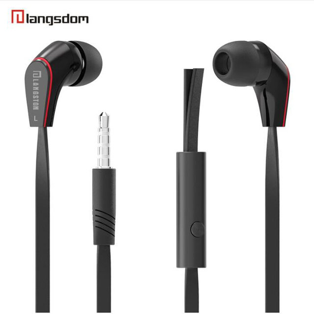 Langsdom Mini New wired in ear Earphone JM12 for music gaming sport portable headset super bass stereo earphones with microphone