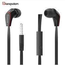 Langsdom mini novo wired in ear fone de ouvido jm12 para jogos de música esporte fone de ouvido portátil super bass estéreo fones de ouvido com microfone