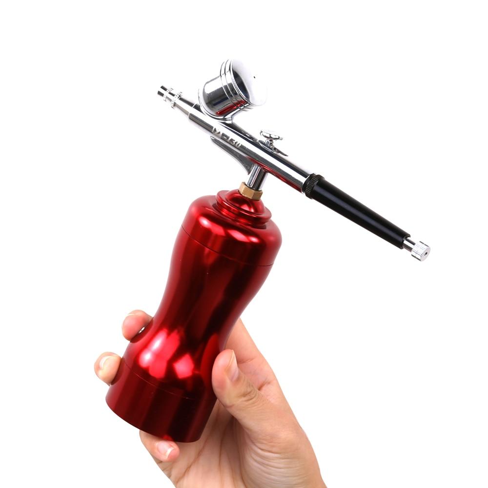 KKmoon Beautiful Body Airbrush Set Small Spray Gun Pump Pen Set Air Compressor Kit for Art