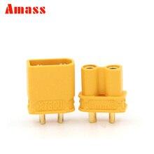 1pair Amass XT30U 2MM Bullet Connectors Plugs for RC Lipo Battery