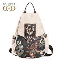 Casual Beads Handmade Women Backpack Forest Trees Printed Female School Bookbag For Girls Vintage Ladies Bagpack