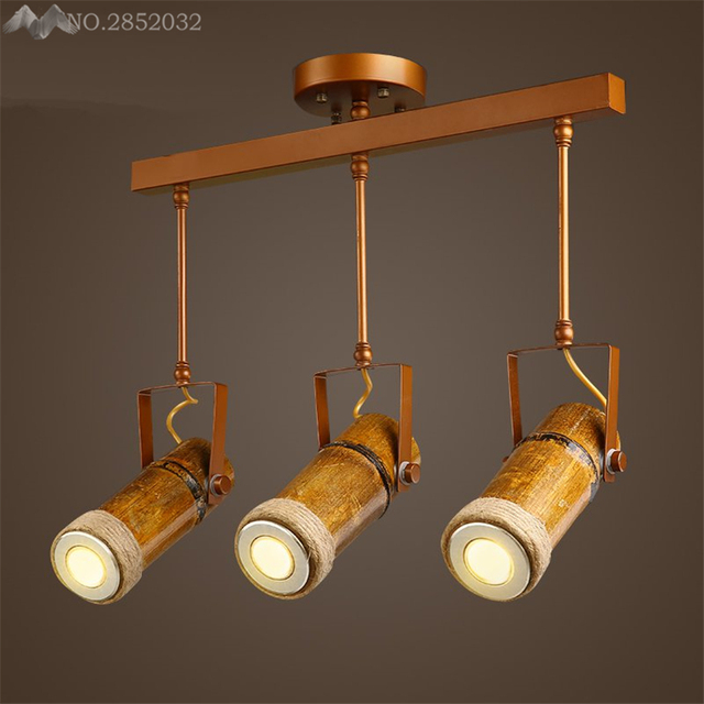 Modern industrial retro track ceiling lamps bamboo ceiling lights modern industrial retro track ceiling lamps bamboo ceiling lights for living room clothing cafe bar lighting aloadofball Choice Image