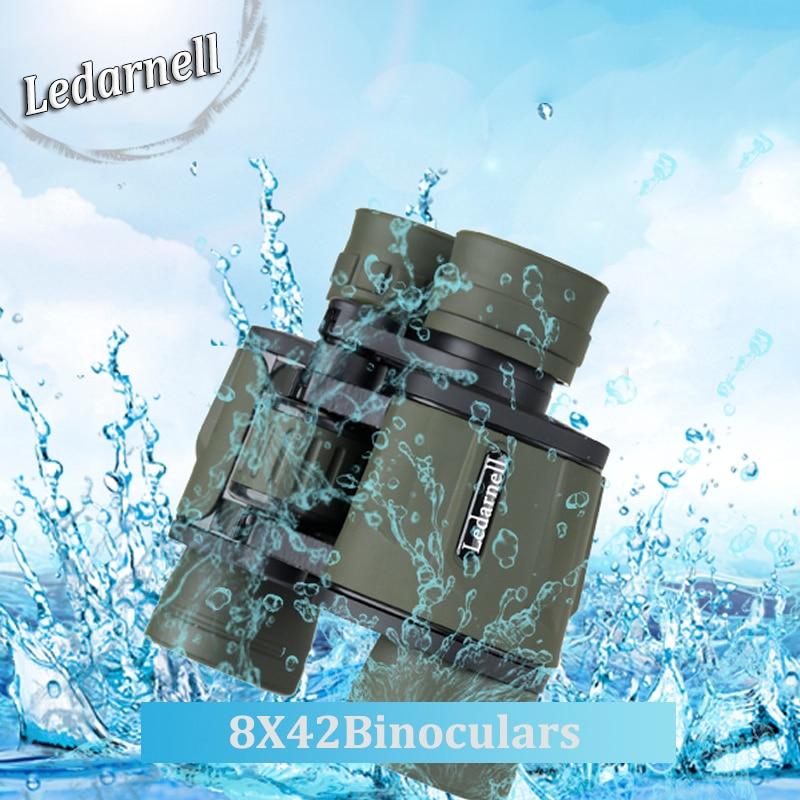 Ledarnell new 8X40 HD waterproof binoculars font b telescope b font hunting BAK4 font b telescope