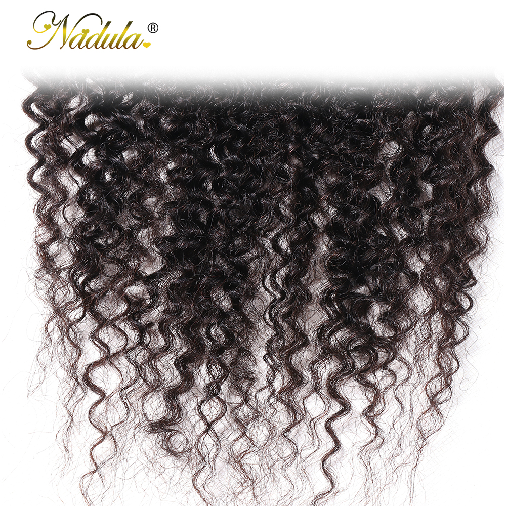 Nadula Hair Kinky Culry  Closure 10-20inch Swiss Lace Closure 4*4 Lace Closure 100% Human  Hair Natural Color 6