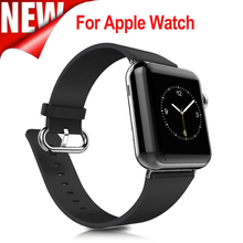 New Classic Hebilla de Correa de Cuero Genuino para Apple Reloj correa de reloj banda de Color Negro 38mm 42mm Replaceme para iwatch serie 3/2/1