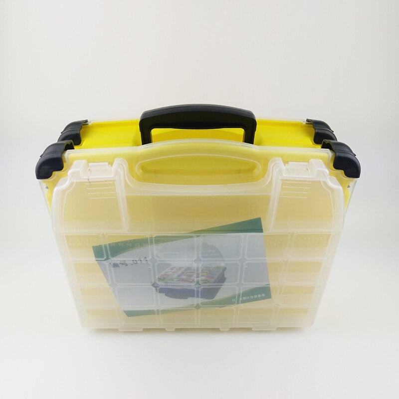 Multifonctionnel haute résistance 38*17*32 cm Transparent Visible en plastique boîte de leurre de pêche boîte de matériel de pêche boîtes 3 couleurs