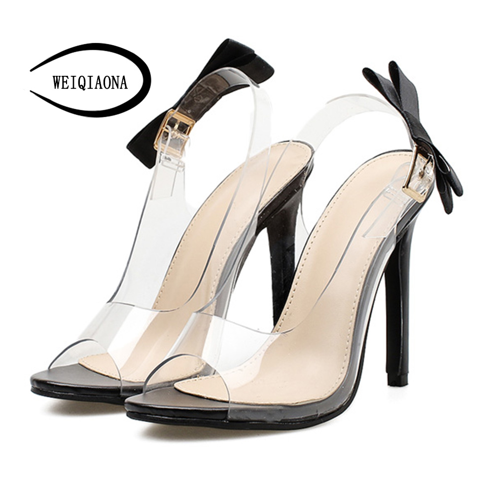 WEIQIAONA 2018 New Summer Fashion Womens Shoes cool grils High heel Open Toe Trend Design Soft PU Party Sandals