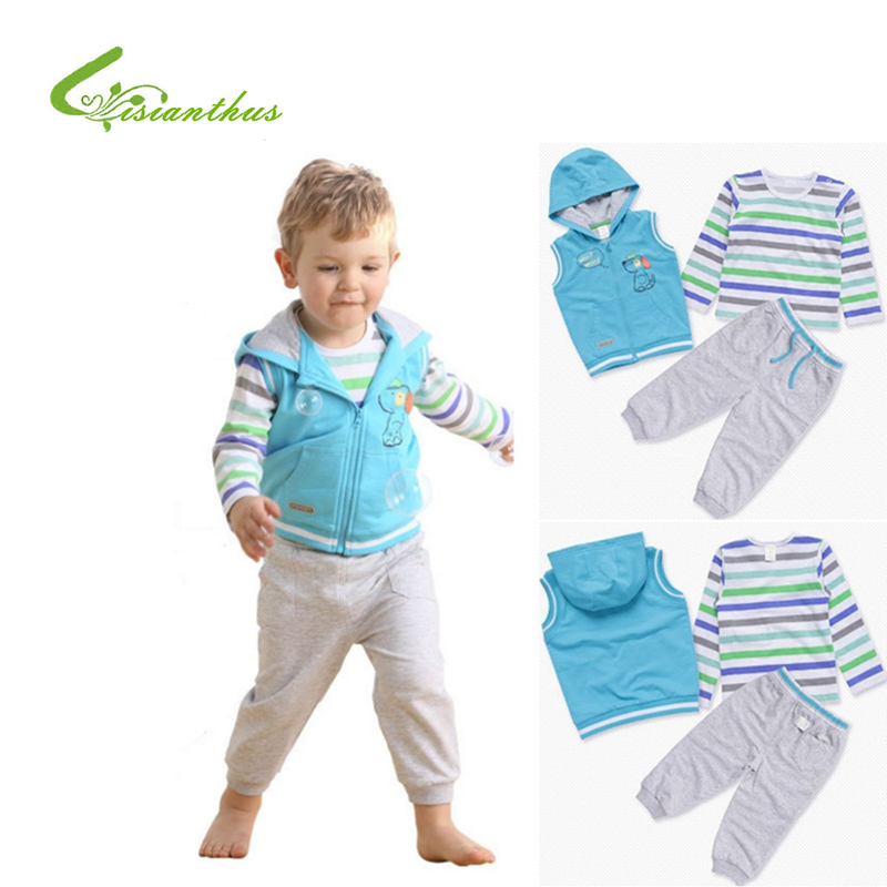 03d8a5e740cd Baby Boys Clothing Sets Sportswear Long Sleeve T shirts Pants Vest Clothes  Spring Autumn Toddlers Bebe Tracksuit Free Drop Ship-in Clothing Sets from  Mother ...