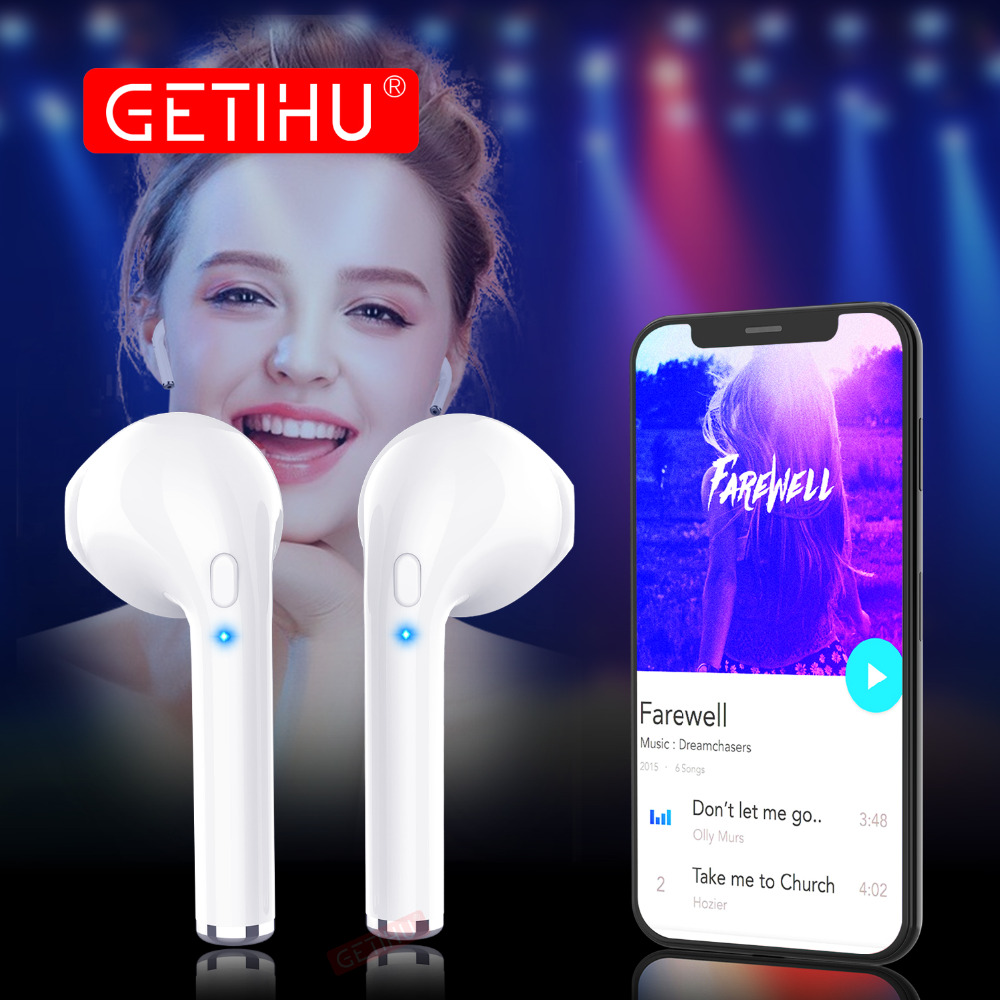 GETIHU Mini Twins Bluetooth Sport Earphones Stereo headphones in Ear Buds wireless Earbuds handsfree Headset For iPhone Samsung ttlife mini wireless stereo bluetooth v4 0 headset high quality handsfree headphones universal for iphone samsung all phones