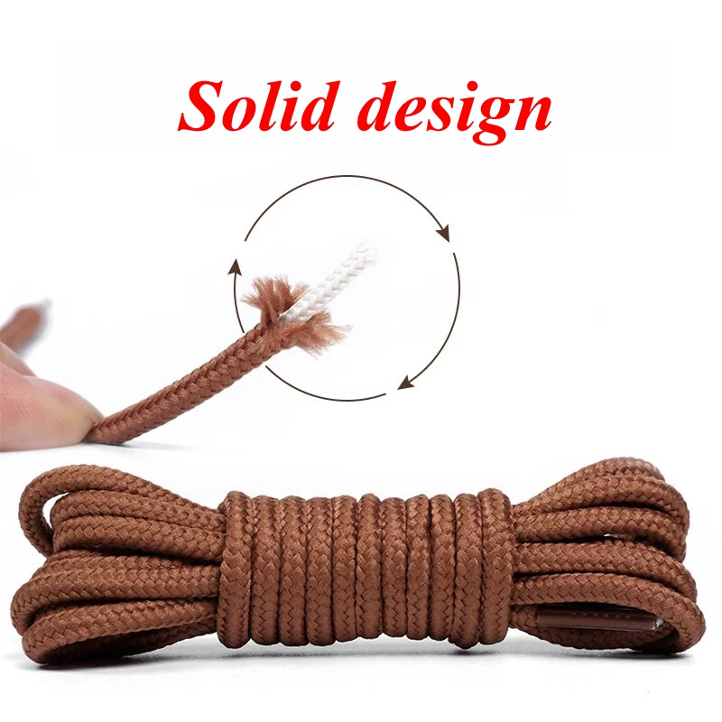 1 Pair Martin Boot Shoelace Polyester Solid Classic Round Shoelaces Casual Sports Boots Shoes Lace Length 90cm/120cm/150cm
