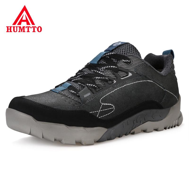 Waterproof Profession Camping Hiking Shoes Men Genuine Leather Trekking Mountain Sneakers Outdoor Wear Resistant Walking Shoes цены онлайн