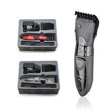 Máquina de cortar cabelo elétrica lavável, navalha recarregável para homens bebê hc001 aparador de barba 220v