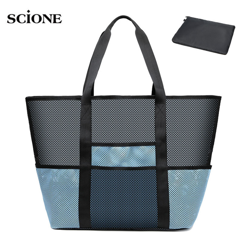 Swimming Mesh Dry Bag For Swim Bags Handbags Net Swimsuit Waterproof Sport Tas Beach Pouch Sack Sporttas Duffel Women Men XA547A