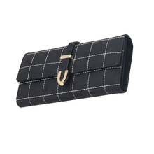 New 2017 Women's Wallet Retro Frosted Purse Large Capacity Leather Wallet Women Long Hand Bag Female Card Holder Phone Clutch