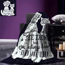 Dog Throw Blanket Friends are Like Stars Quote with Silhouette of Pets on a Space Themed Backdrop Warm Microfiber(China)