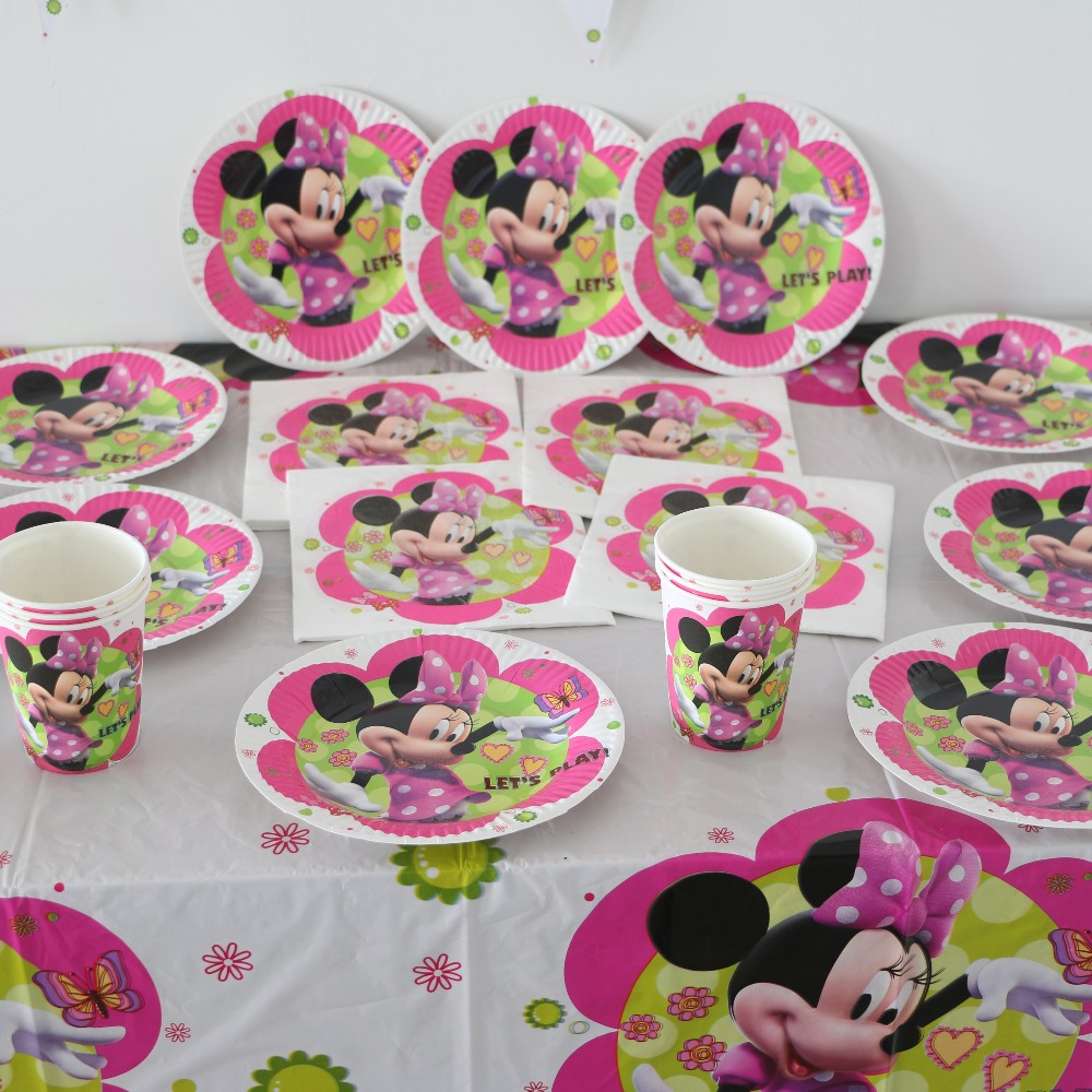 Online buy wholesale minnie mouse party supplies from for Baby birthday decoration photos