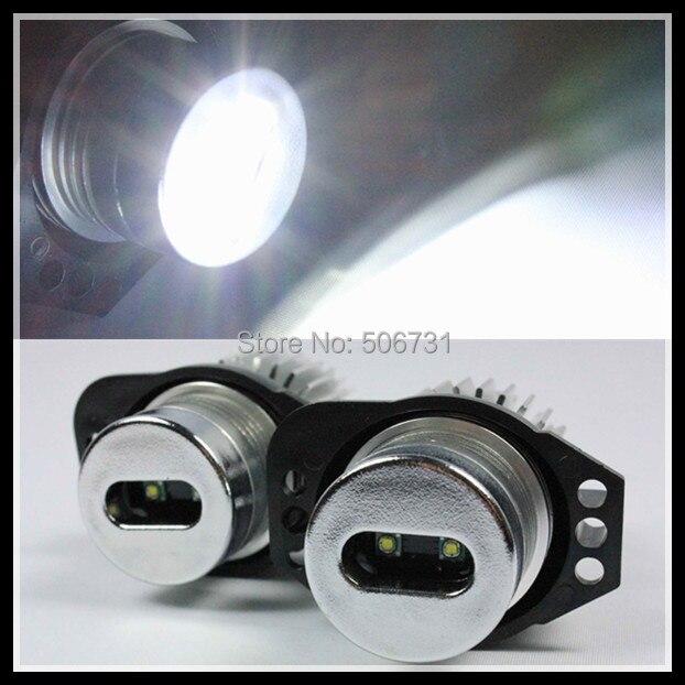 ФОТО Aluminum 6W LED marker LED Angel Eyes for BMW E90 E91 LED headlight angel eye for BMW E91 E90