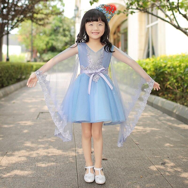 Mutter Tochter Kleider für Hochzeit Abend Lange Ballkleid Mädchen Formales Kleid Familie Passende Kleidung Blaue Fee Kostüm - 4