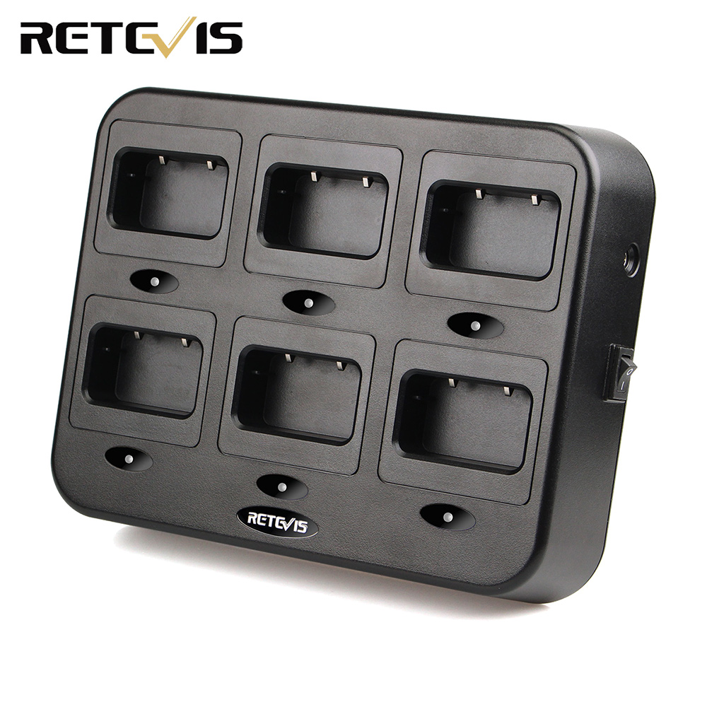 Retevis RTC21 Six-Way Charger For Retevis RT24 RT21 Walkie Talkie Ham Radio Hf Transceiver C9059B