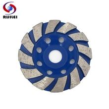 RIJILEI Top 4 inch Diamond grinding wheel Bowl Shape Grinding Cup Marble Abrasive pad for concrete floor Polishing HC04