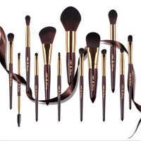 Haut de gamme 13 pièces Pinceaux De Maquillage Ensemble Brosse De Fond De Teint En Poudre Fard À Paupières Brosse À Lèvres Pinceau de fond de Teint Plat Mode Cosmétique Outil Kit