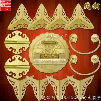 Zhang Muxiang a copper fittings Chinese antique wooden box Copper Queen Suite Box buckle Catch Hinge Handle Wedding furniture
