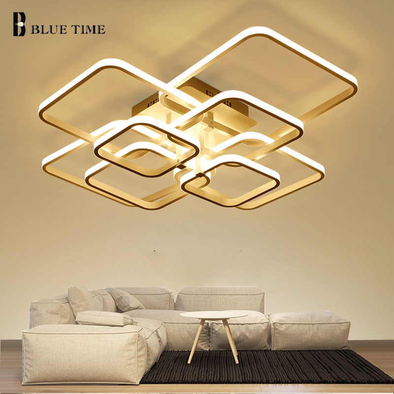 Ceiling Lights Lights & Lighting Square Circle Rings Chandelier For Living Room Bedroom Home Ac85-265v Modern Led Ceiling Chandelier Lamp Fixtures Free Shipping