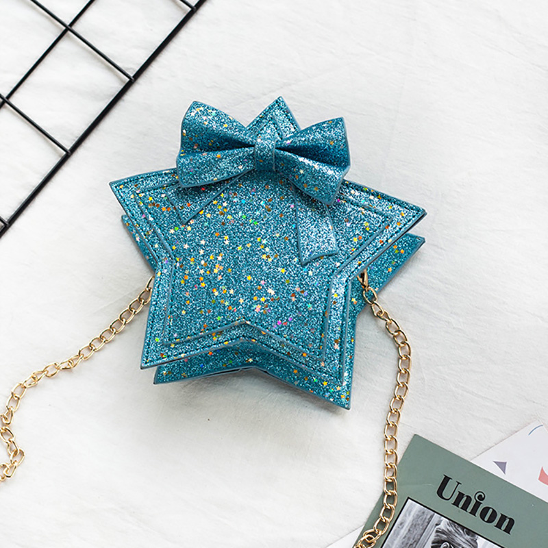 Lovely Baby Girls Mini Messenger Bag Cute Sequins Star Kids Small Coin Purses Children Primary Student Handbags Toy Hat